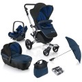 concord-conjunto de carrinho de passeio neo travel set indigo